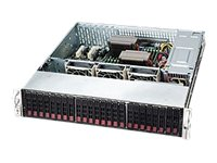 Supermicro 2U SC216 LP W 1 Expander, 120W RPSU, Black, CSE-216E16-R1200LPB, 11701785, Cases - Systems/Servers