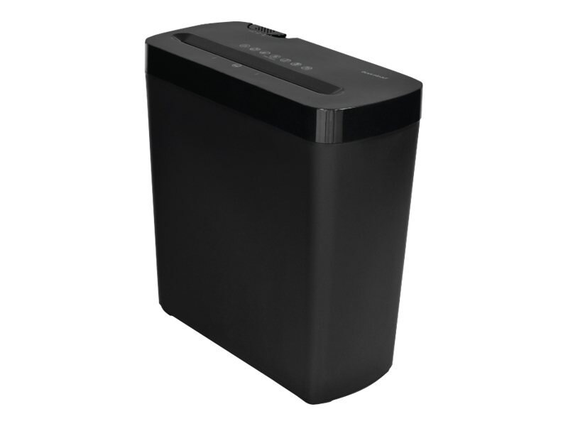 Gear Head 6-Sheet Cross Cut Paper Shredder - Black