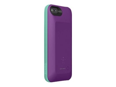Belkin Grip Power Battery Case for iPhone 5 5s, Purple Lightning Fountain Blue, F8W292TTC03