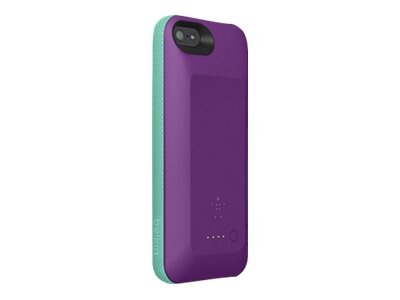 Belkin Grip Power Battery Case for iPhone 5 5s, Purple Lightning Fountain Blue, F8W292TTC03, 20659671, Carrying Cases - Phones/PDAs