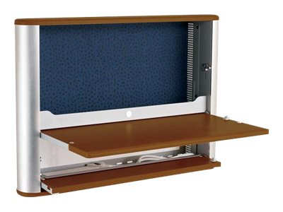 Ergotron eNook Wall-Mounted Workstation - Maple