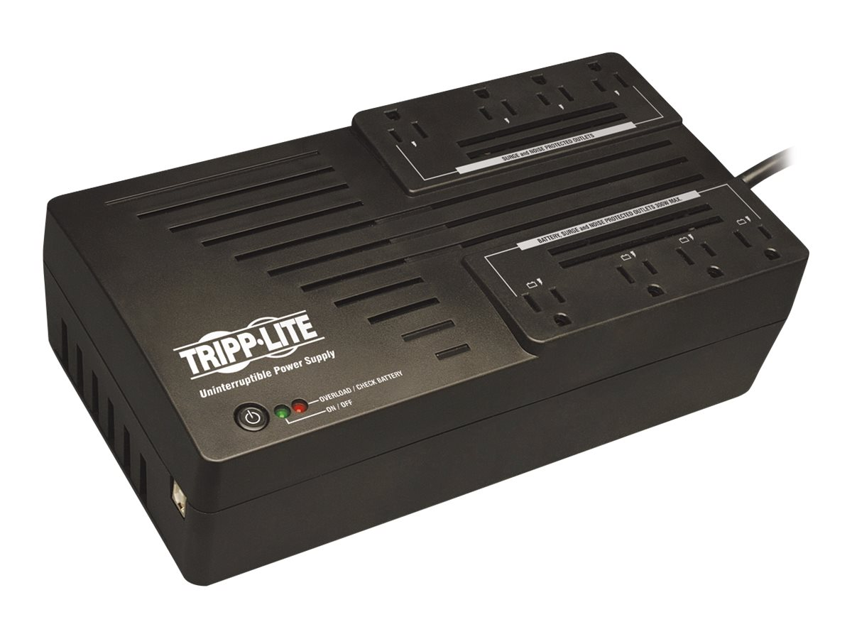 Tripp Lite AVR Series 700VA 350W Ultra-Compact Line Interactive 120V UPS, (8) Outlets, USB Port, Muted Alarm