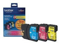Brother Cyan, Magenta & Yellow LC653PKS Ink Cartridges for MFC-6490CW (3-pack)