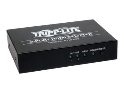 Tripp Lite 2-Port High Speed HDMI Splitter for Video with Audio, HDMI F 2xF, B118-002, 16315744, Video Extenders & Splitters