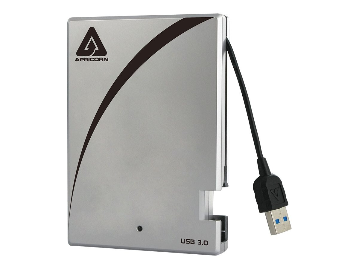 Apricorn 500GB Aegis USB Portable Hard Drive w  Integrated Cable, A25-3USB-500