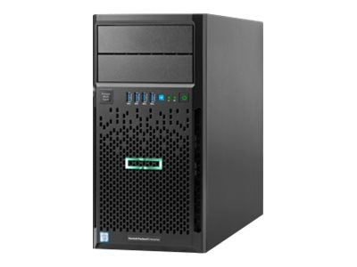 HPE ProLiant ML30 Gen9 Tower Xeon QC E3-1240 v5 3.5GHz 8GB 4x3.5 Bays B140i 2xGbE 460W, 830893-001, 31010842, Servers