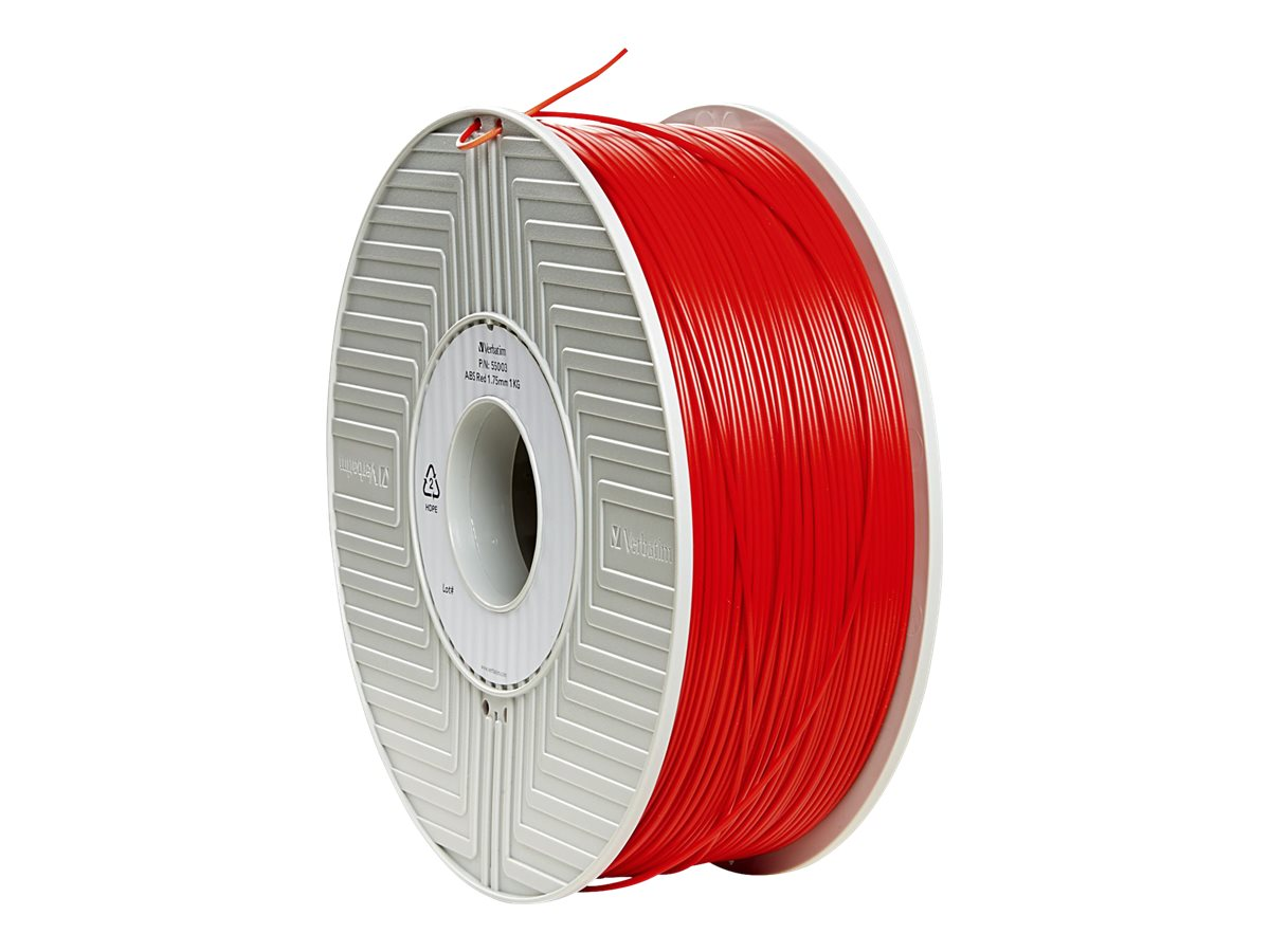 Verbatim Red 1.75mm 1kg ABS 3D Filament