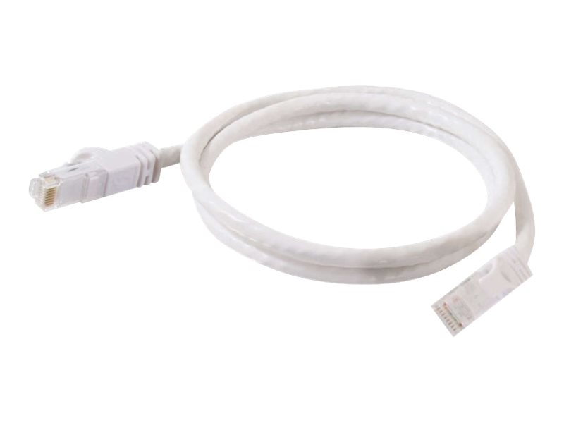 C2G Cat6 Snagless Unshielded (UTP) Network Patch Cable, White, 7ft