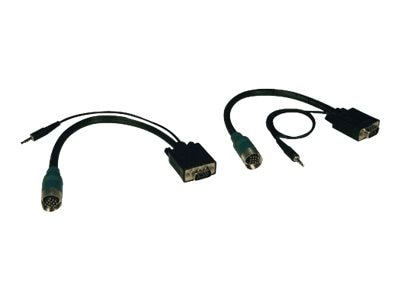Tripp Lite Easy Pull Type-A Connector Kit, M M set of VGA with Audio, EZA-VGAAM-2, 8442591, Cables