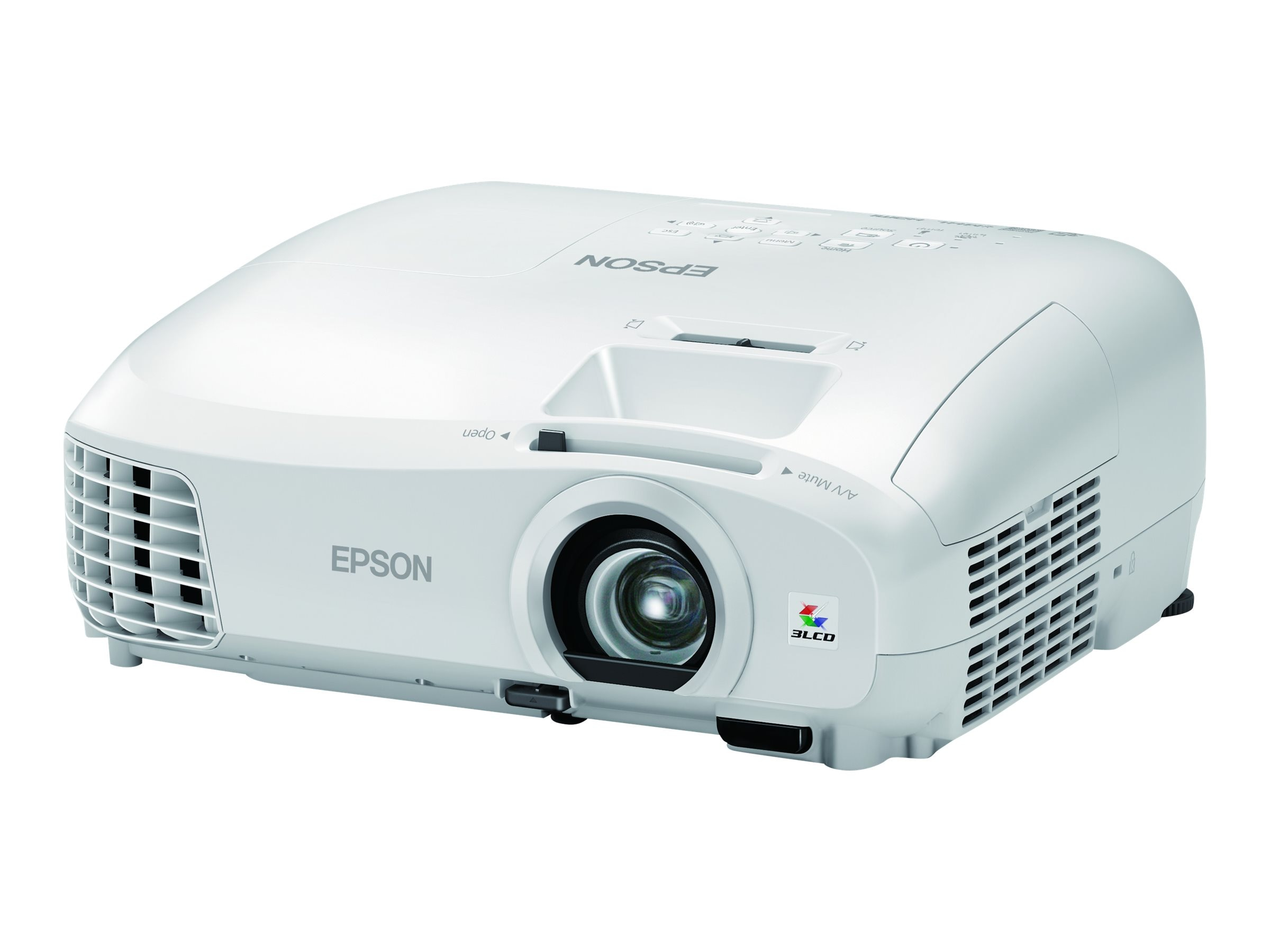 Epson PowerLite Home Cinema 2040 3D 1080p 3LCD Projector, 2200 Lumens, White