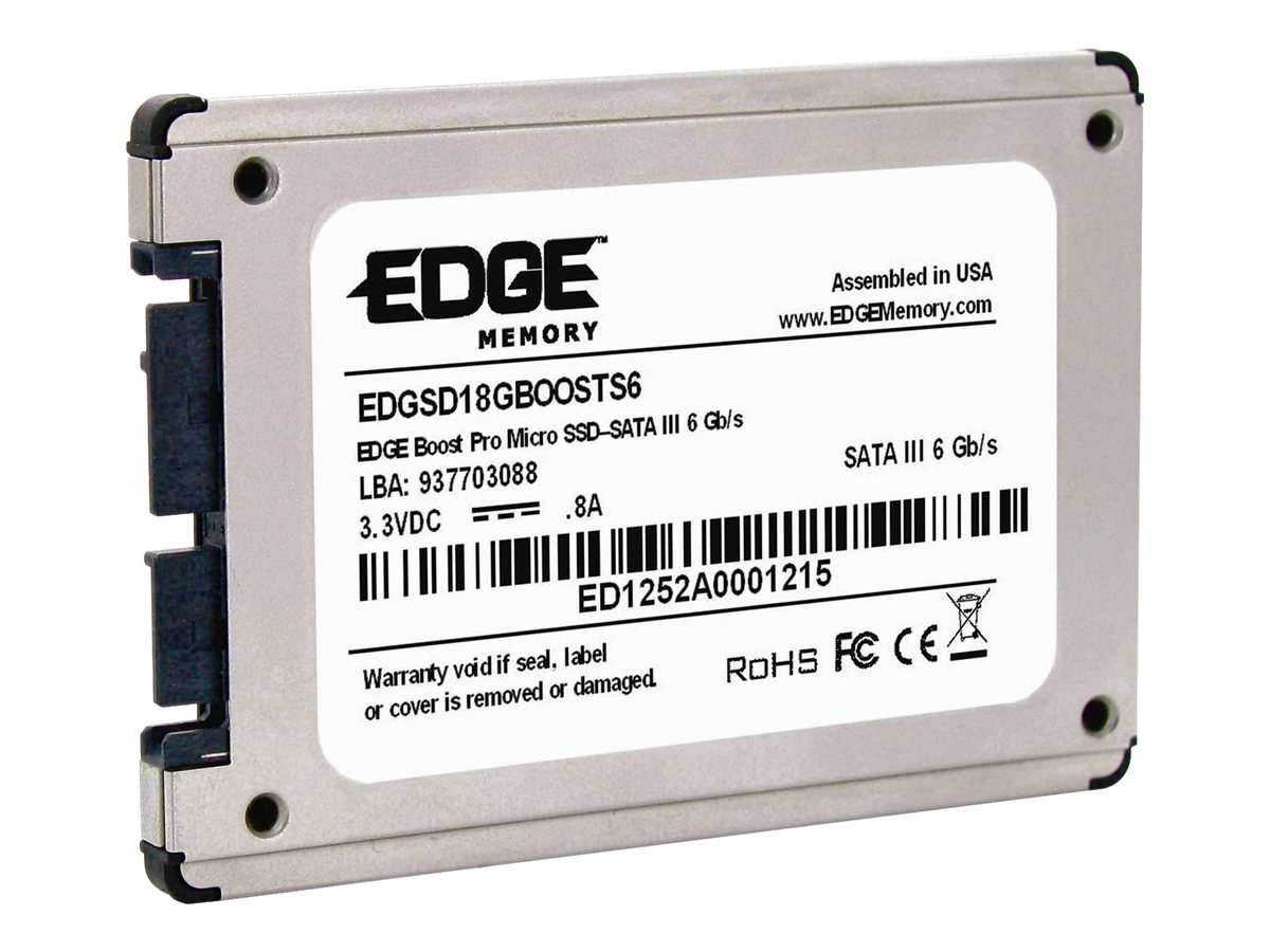 Edge 60GB Boost Micro SATA 6Gb s 1.8 Internal Solid State Drive, PE242411, 30549854, Solid State Drives - Internal