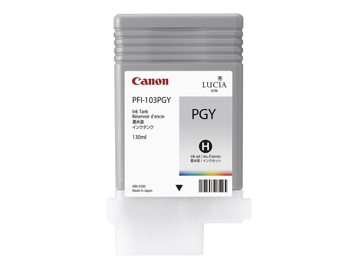 Canon PFI-103 PGY Photo Gray Ink Tank for imagePROGRAF iPF5100 & iPF6100 Printers, 2214B001, 8198322, Ink Cartridges & Ink Refill Kits