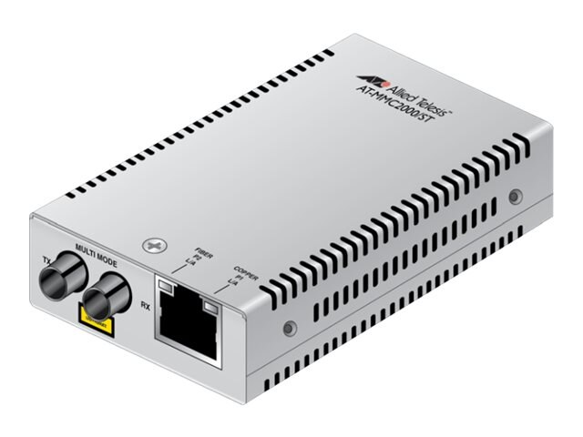 Allied Telesis 10 100 1000T TO 1000X ST Mini Media Converter Universal PSU, AT-MMC2000/ST-60, 20521604, Network Transceivers
