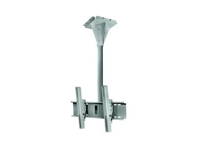Peerless 4' Wind-Rated Outdoor Ceiling Mount for 32-65 Flat Panels up to 200 lbs., Black, ECMU-04-C