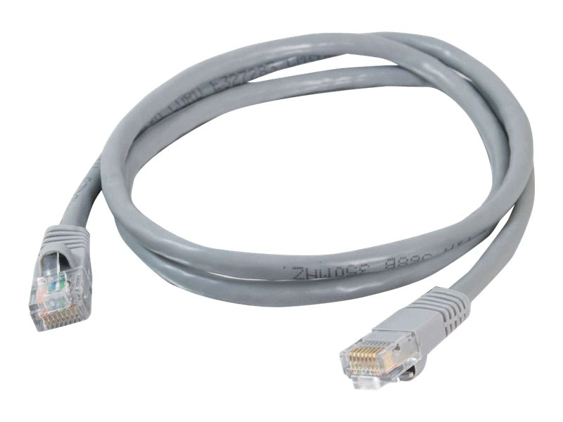C2G Cat5e Snagless Unshielded (UTP) Network Patch Cable - Gray, 3ft