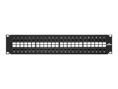 Leviton Extreme 6+ QuickPort 48-port Patch Panel, Cat6, Cable Management Bar, 69270-U48, 8573031, Patch Panels