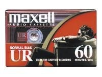 Maxell UR-60 Blank Audio Cassette Tape, Normal Bias