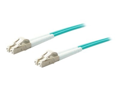 ACP-EP OM4 Fiber Patch Cable, LC-LC, 50 125, Duplex, Multimode, Aqua, 1m