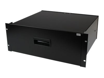StarTech.com 4U Steel Storage Drawer for 19 Racks & Cabinets, Black, 4UDRAWER