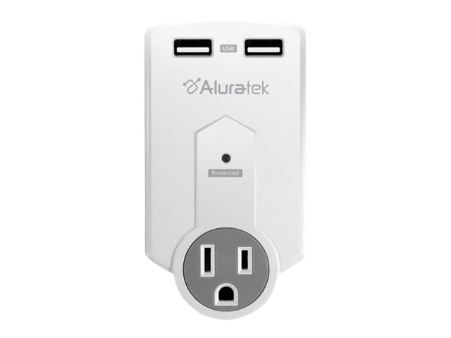 Aluratek Mini Power Surge With Dual USB Charging Station, AUCS05F, 12591258, Digital Media Player Accessories