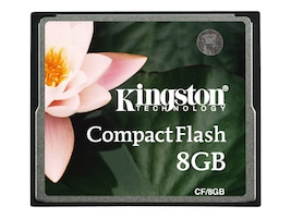Kingston 8GB CompactFlash Memory Card for Select Models, CF/8GB, 10114669, Memory - Flash