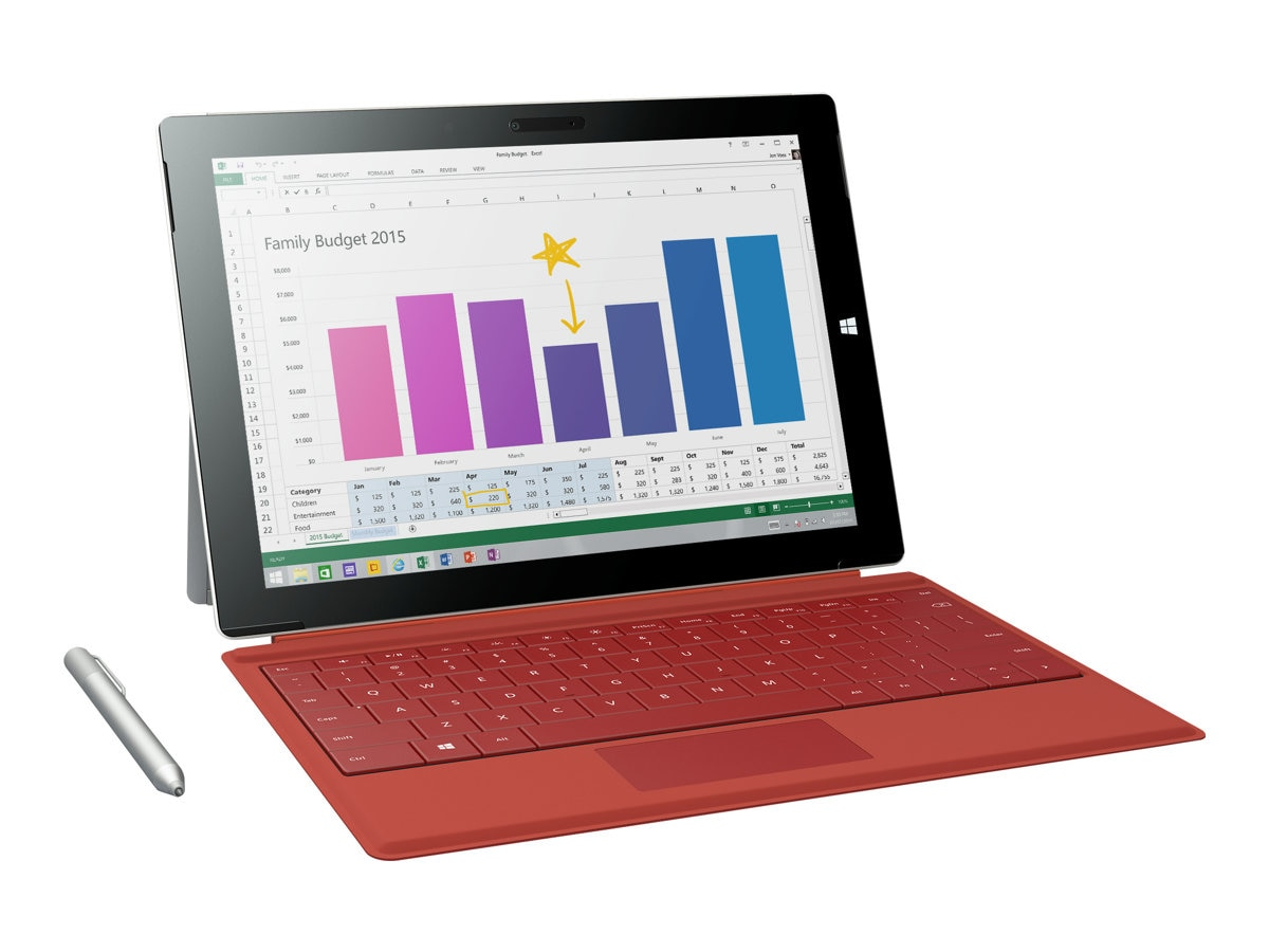Microsoft Surface Pro 3 Type Cover, Red, RD2-00077