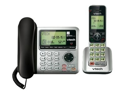 Vtech CS6649 DECT 6.0 Cordless Phone with Answering Machine, CS6649, 15741979, Telephones - Consumer