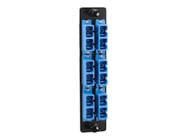 Black Box High-Density Adapter Panel, Ceramic Sleeves, (6) SC Duplex Pairs, Blue, JPM461C, 15902445, Premise Wiring Equipment