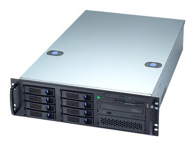 Chenbro 3U Servr Chassis, SATAII, SAS, Zippy PS-M1Z3, RM31408T-760R, 9866548, Cases - Systems/Servers
