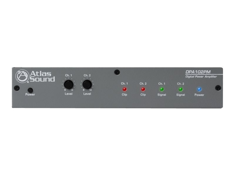 Atlas Sound Networkable 2-Channel Power Amplifier, DPA-102PM