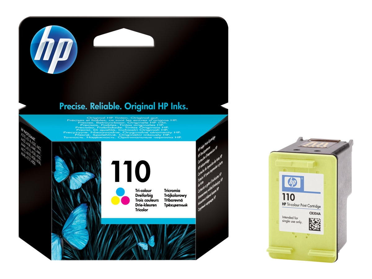 HP 10 (CB304AN) Tri-color Original Ink Cartridge, CB304AN#140, 7150183, Ink Cartridges & Ink Refill Kits