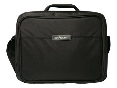 InFocus Soft Carrying Case with Shoulder Strap and Cable Management for Office or Classroom Projector