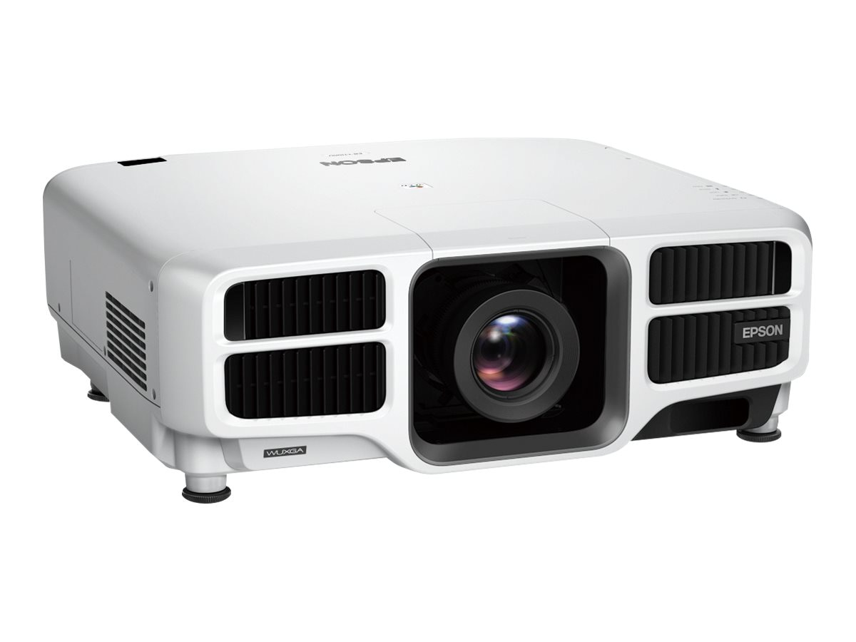 Epson Pro L1100U Laser WUXGA 3LCD Projector with Standard Lens, 6000 Lumens, White