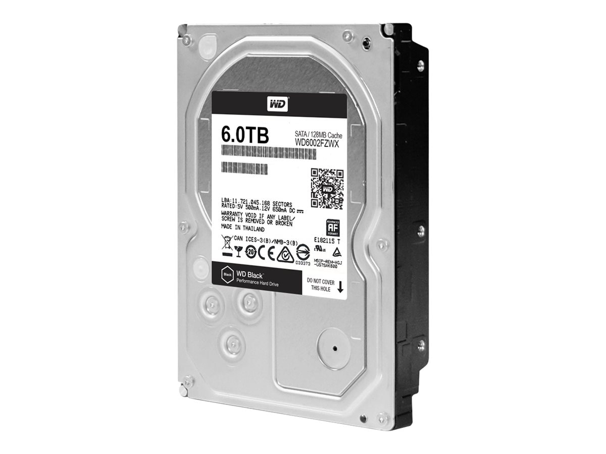 WD 6TB WD SATA 6Gb s Internal Hard Drive - 128MB Cache