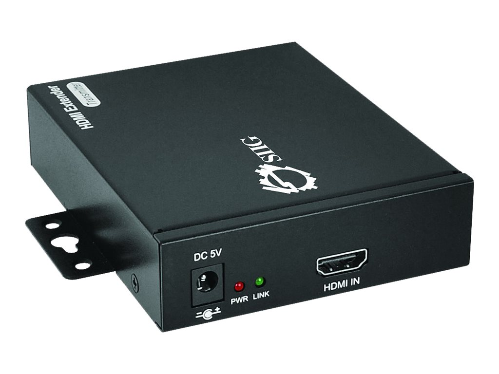 Siig HDMI Over Gigabit IP Extender Kit with IR, CE-H22811-S1