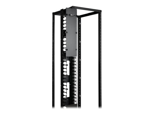 Tripp Lite High Capacity Vertical Cable Manager, Double Finger Duct, Cover, Toolless Mounting, 6W, SRCABLEVRT6