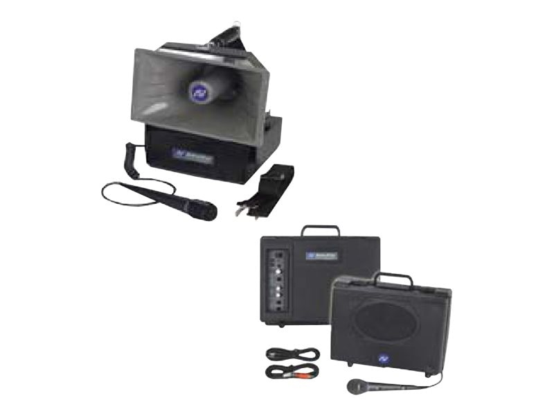 AmpliVox Titan Portable PA Bundle w  HH Mic, SW800, Speakers, Tripods & Case
