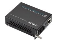 Black Box Pure Networking 10BASE-T 100BASE-TX Media Converter, Multimode, 1310-nm, 2 km, SC, LHC201A, 15132305, Network Extenders