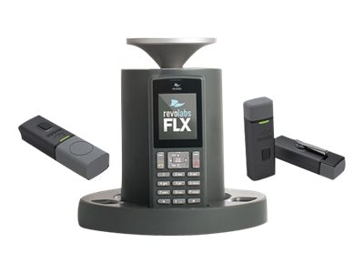 Revolabs FLX2 VOIP SIP Wireless Conference Phone System with 1 Omni & 1 Wearable Microphone