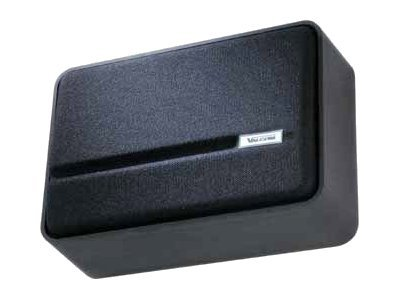 Valcom Talkback Slimline Wall Speaker - Black, V-1046-BK
