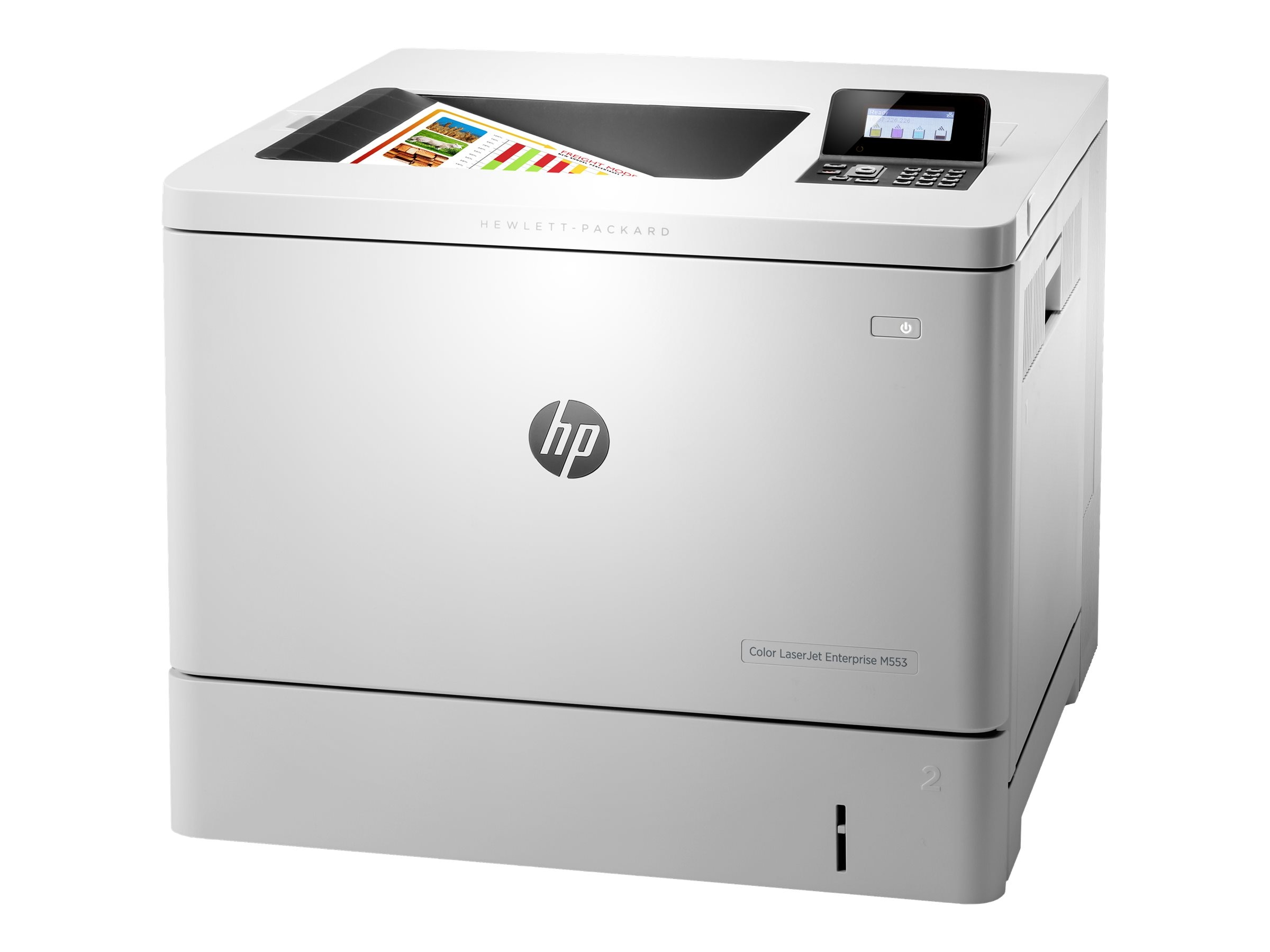 HP LaserJet Managed M553dnm Color Laser Printer, B5L38A#BGJ, 20982793, Printers - Laser & LED (color)