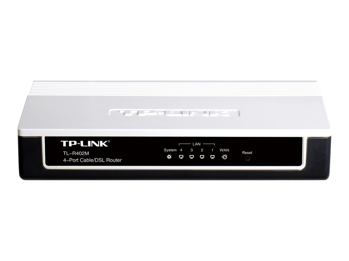 Open Box TP-LINK 4-Port Cable DSL Home Router, 1 WAN port, 4 LAN ports, TL-R402M, 30726620, Network Routers