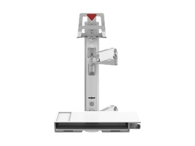 Humanscale V6 Wall Station, 47 Track, Dual 9 Straight Arms, 12 Adjustable Arm