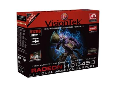 VisionTek Radeon HD 5450 PCIe Graphics Card, 512MB, 900530