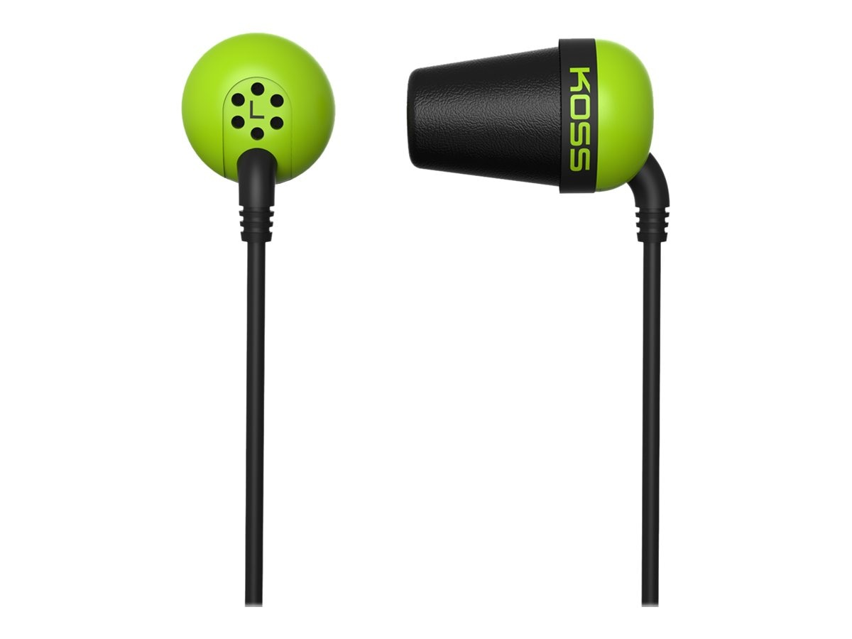 Koss Noise Isolating Ear Bud - Green, PLUG G, 16910455, Headphones
