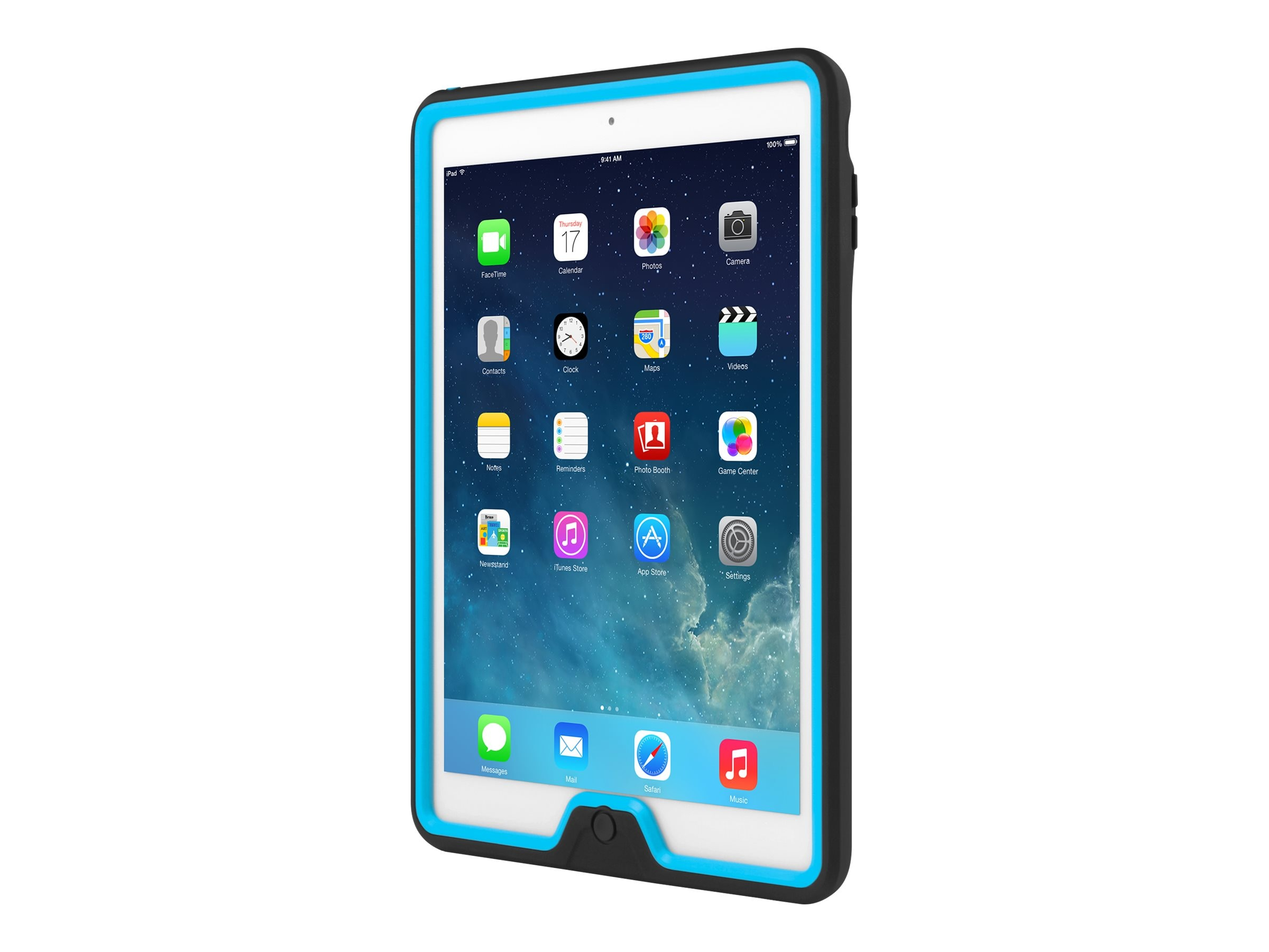 Incipio Capture Ultra-Rugged Case w  Rotating Hand Strap for iPad Air, Black Cyan, IPD-333-BLKCYN, 31216103, Carrying Cases - Tablets & eReaders