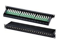 C2G Cat5E Shielded High-Density Patch Panel, 24-Port