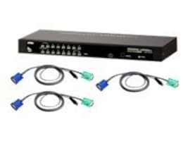 Aten 16-Port KVM Switch with (8) PS 2 Cables, CS1316KIT, 10101112, KVM Switches
