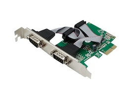 ACP-EP Dual Open RS-232 Port PCIe x1 Host Bus Adapter with 16550 UART, ADD-PCIE-2RS232U5, 23203433, Host Bus Adapters (HBAs)