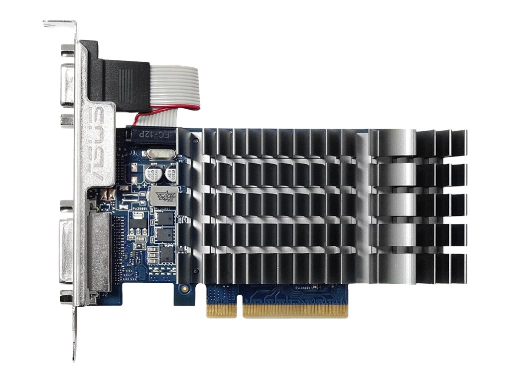 Asus GeForce GT 710 PCIe 2.0 Graphics Card, 1GB DDR3, 710-1-SL-BRK, 31841574, Graphics/Video Accelerators